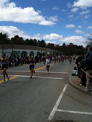 Boston Marathon in Wellesley Center