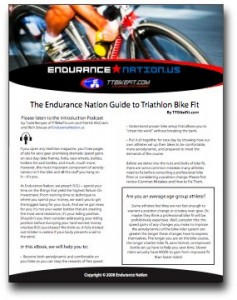 Bike Fit eBook