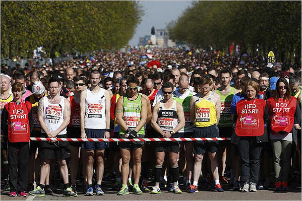 London Marathon honors the fallen at Boston.
