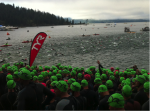 Coeur d'Alene 2013 Swim Start