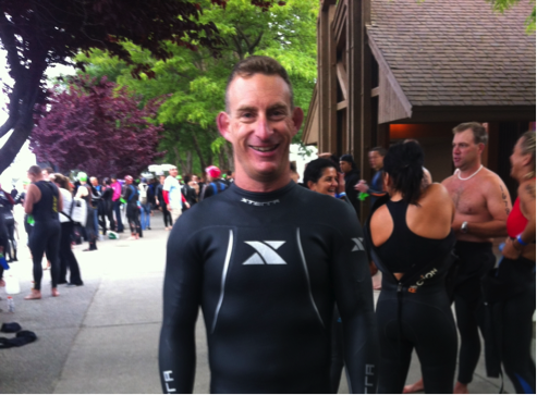 Mark Cardinale ready in his wetsuit - Team Endurance Nation