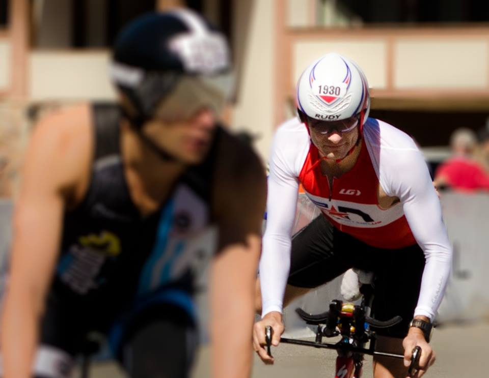 Steve Hall on the bike in 2013 Ironman® Lake Tahoe
