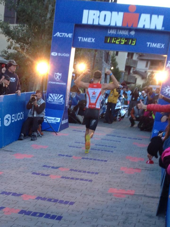 Trevor Garson finishes Ironman® Lake Tahoe 2013