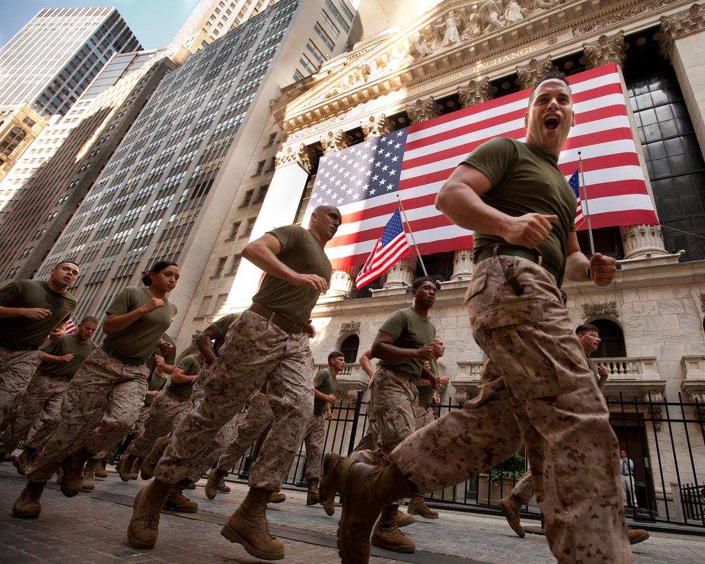 Marines Lead Run to Ground Zero -- Fleet Week New York 2011
