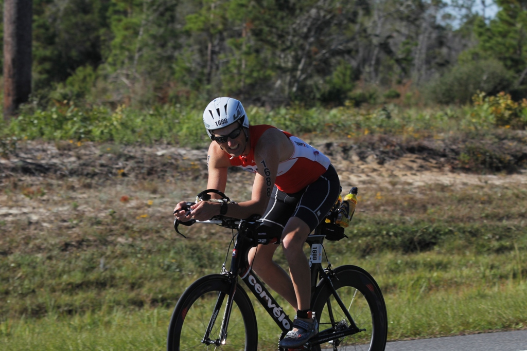 Jaime Fields on the bike course at IM Florida 2013