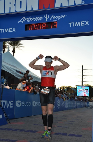 Rian Bogle Crosses the Finish Line