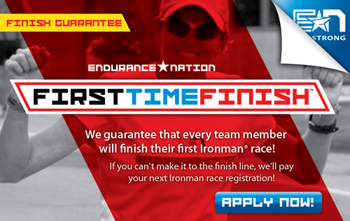 Endurance Nation's FirstTimeFinish™ Guarantee Program