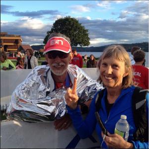 Mens 65-69AG winner Al Truscott and wife Cheryl