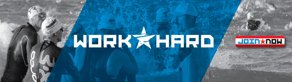 """<font color=""""black"""" size=""""8"""">Work Hard. Get Smart. Go Fast.</font><br><font color=""""red"""" size=""""5"""">The World's Largest, Fastest Age Group Triathlon Coaching Group: <b>Join Today!</b></font>"""