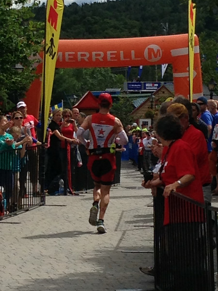 Ironman®  Mont Tremblant - Coach Patrick of Endurance Nation at the Halfway Point