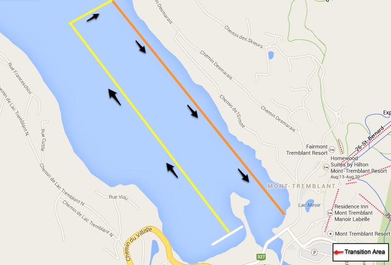Tremblant Swim Map