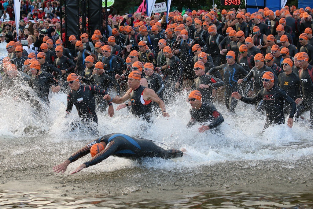 2014 Ironman Mont Tremblant Swim Start