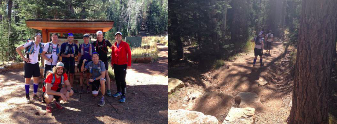 Just before (left) and after (right) we left the North Rim for the return leg…