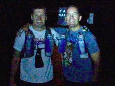 This is the only picture I have of me and Eric at the finish at the Bright Angel Trailhead