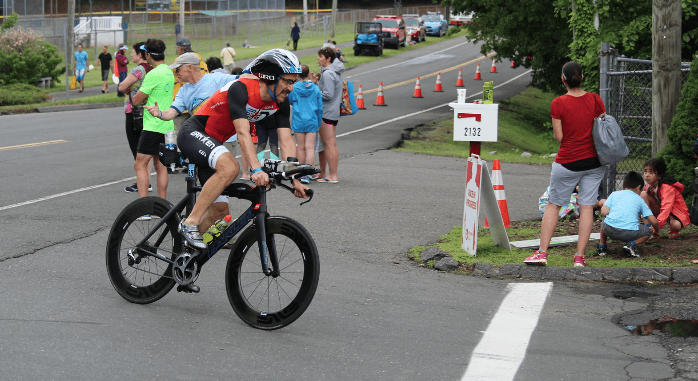 Endurance Nation Member Rob Sabo Finishing the Bike