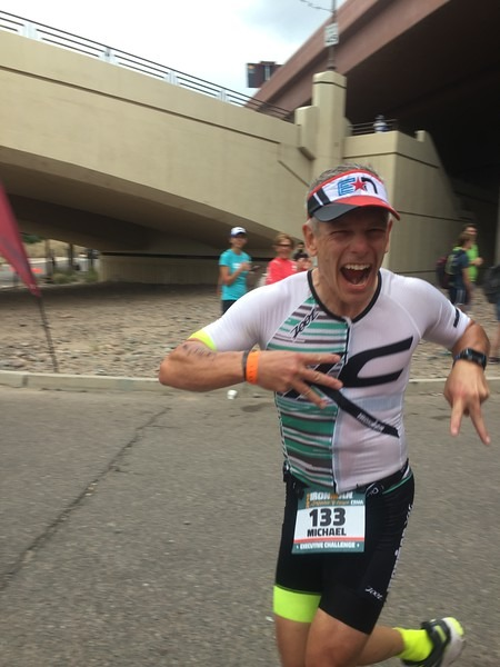 Mike Blackburn showing some EN Luv at Arizona, only about 8 weeks after qualifying for Kona at Ironman Chattanooga!