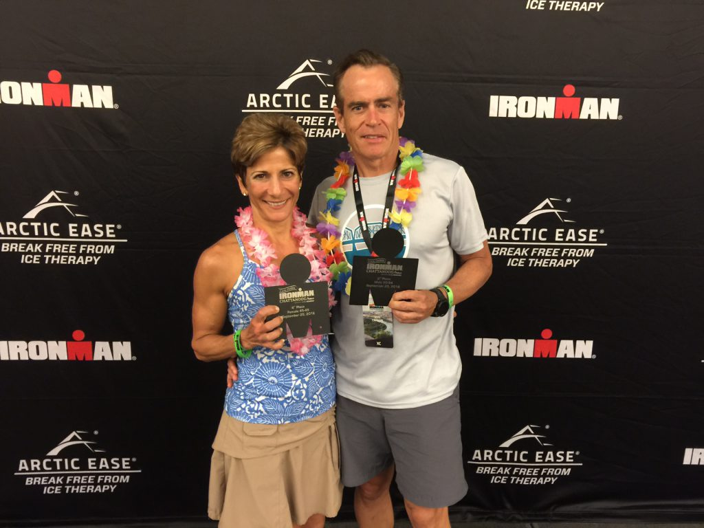 Giselle and Jeff Carson with their podium awards and KQ's!