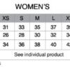 women pactimo sizing