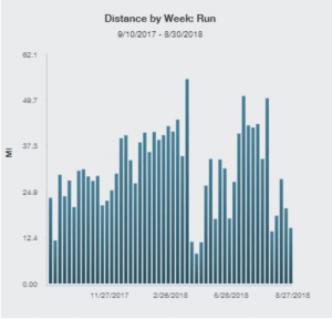 Tim Weekly Run Volume