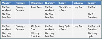 XTraining-Schedule