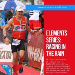Race a triathlon in the rain