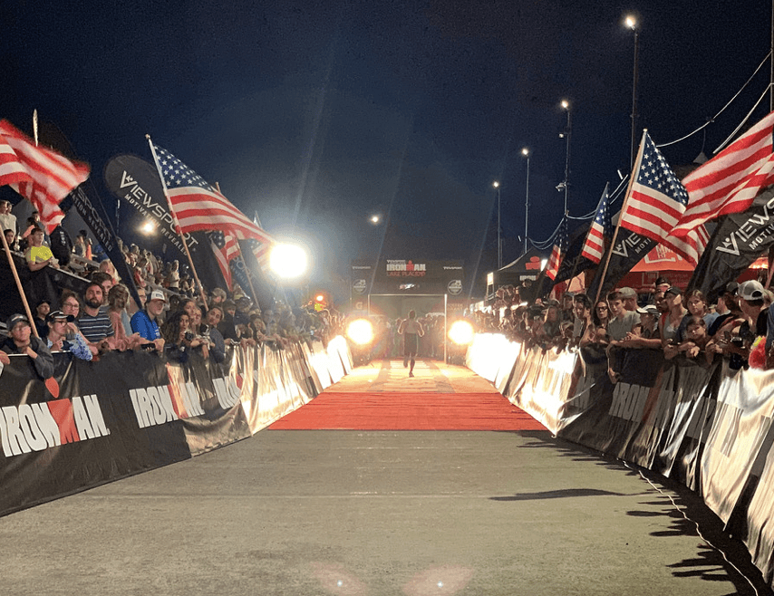 Ironman Lake Placid Finish Line at Night