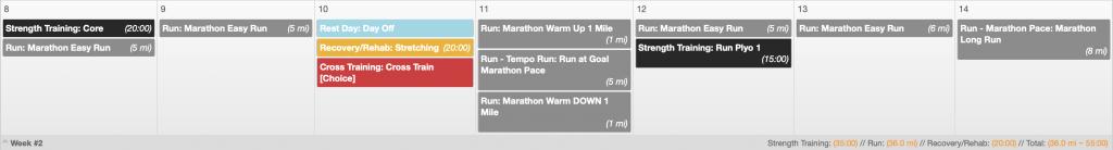 Marathon Plans
