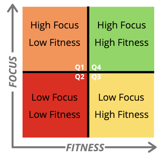 Fitness vs Focus Matrix